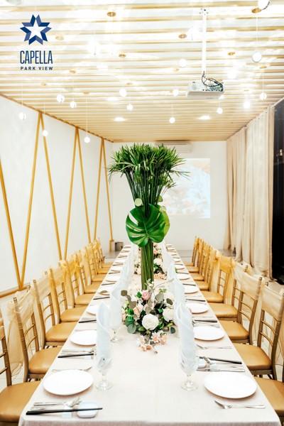Trang trí tiệc cưới đẹp tại Capella Parkview